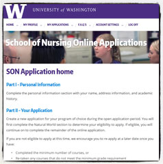 Link to UW SON - Undergrad applications